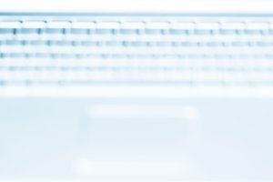 Horizontal laptop keyboard bokeh background