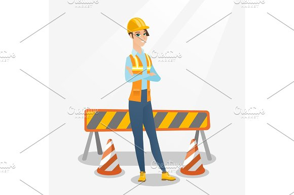 Confident Builder With Arms Crossed