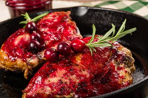 Cranberry glaze and chicken