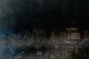 Horizontal aerograph techno abstraction