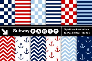 Nautical Stripes, Chevron & Anchors
