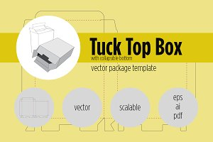 Tuck Top Box with Collapsible Bottom