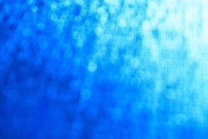 Horizontal blue cold bokeh background