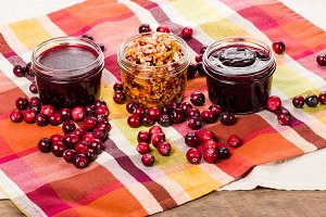 Cranberry sauce and relish