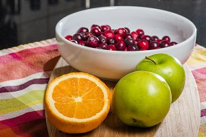 Orange apples and cranberries