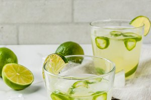 Fresh Lime and Jalapeno Margarita