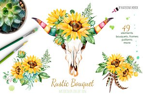 Rustic Bouquet. Boho collection