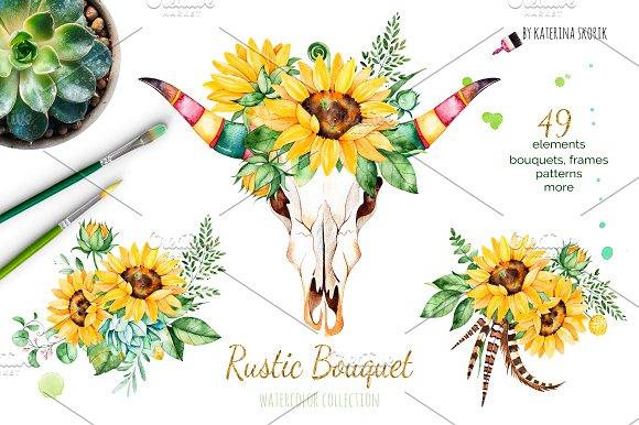 Rustic Bouquet. Boho collection