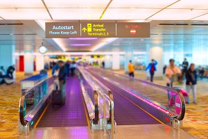 Singapore airport travelator