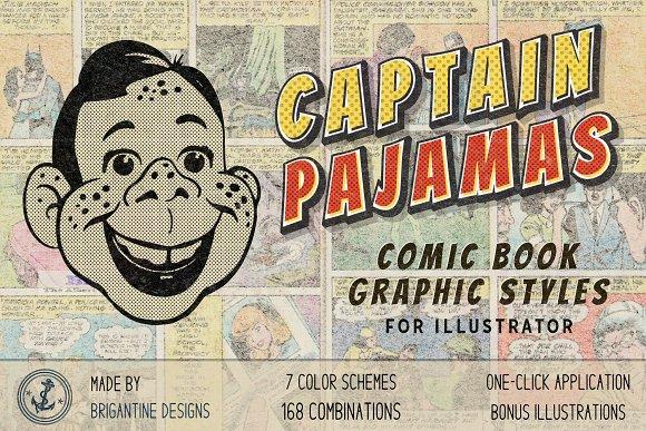 168 Retro Comic Illustrator Styles
