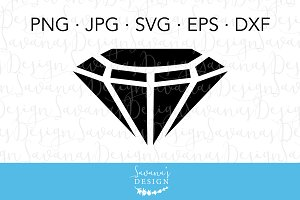 Diamond Gemstone SVG Cut File