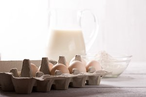 milk,egg and flour