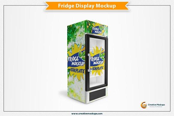 Free Fridge Psd Mockup