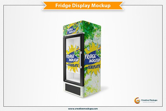Free Fridge Mockup Template