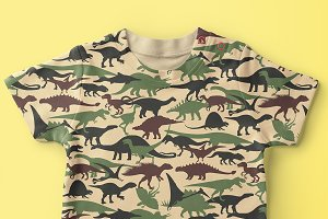 Camouflage Pattern with Dinosaurs