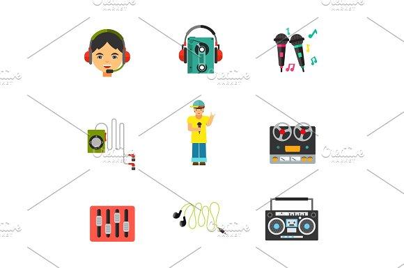 Music Equipment Icon Set