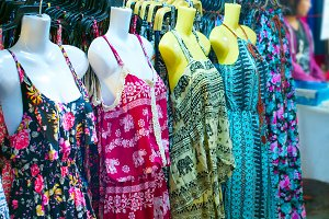 Dresses at Thailand night market