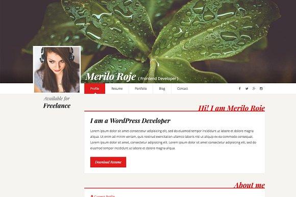 Merilo Roje Resume CV Template