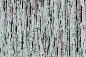 Gray painted peeling wood