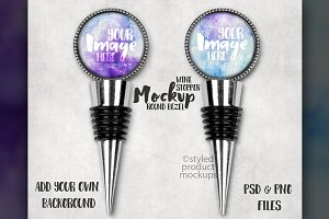 Glass Cabochon Wine Stopper Mockup