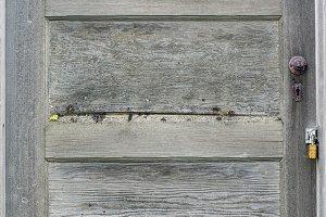 Weathered wooden door