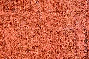 Rough siding painted red