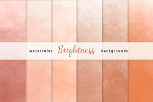 Orange Ombre Watercolor Backgrounds