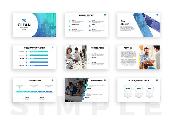 clean powerpoint template presentation templates creative market