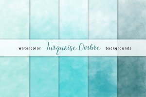 Ombre Watercolor Backgrounds