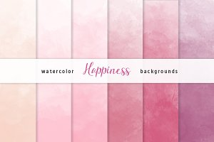 Pink Ombre Watercolor Backgrounds