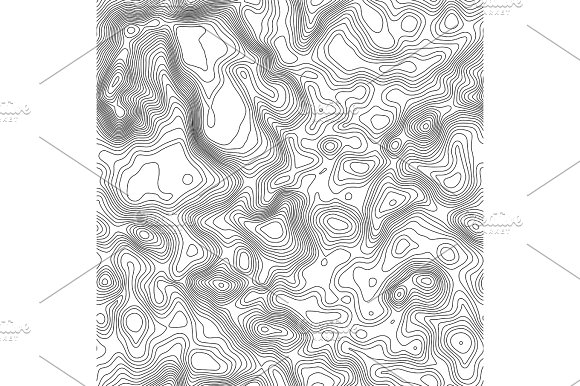 Seamless Pattern Topographic Map Background With Space For Copy Seamless Texture Line Topography Map Contour Background Geographic Grid Mountain Hiking Trail Over Terrain