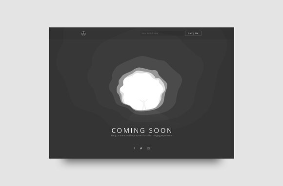 Vector Coming Soon Web Template