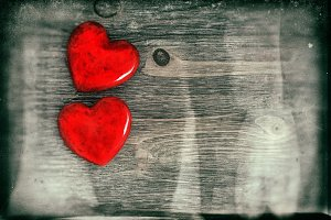 Red Hearts. Valentines Day