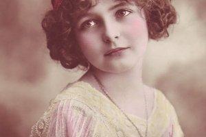 Flapper Girl Antique Postcard