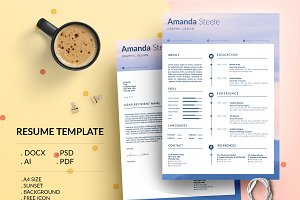 Sunset CV / Resume Template / N