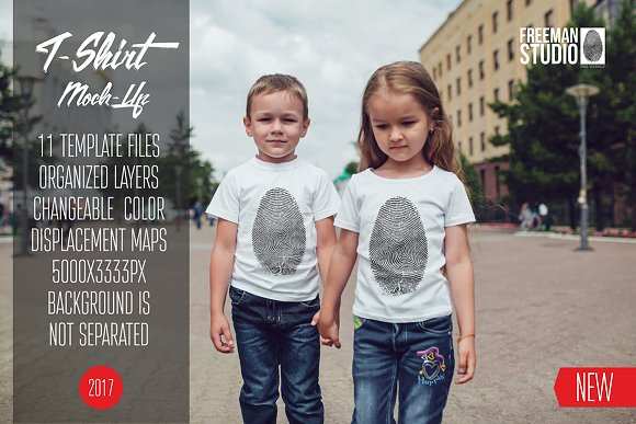 Free Kids T-Shirt Mock-Up Vol.7 2017