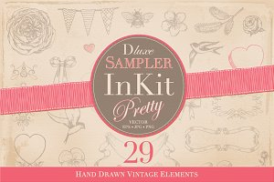 InKit Pretty Hand Drawn Sampler