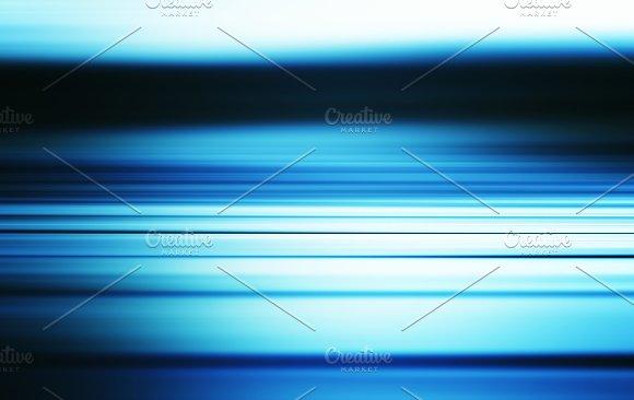 Horizontal Blue Sea Motion Blur Illustration Background