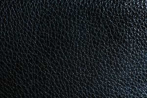 Horizontal wide black leather texture background backdrop