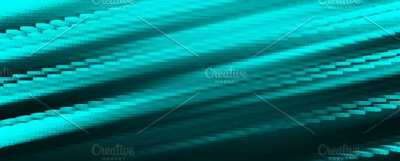 Diagonal Cyan 3D Blocks Illustration Background