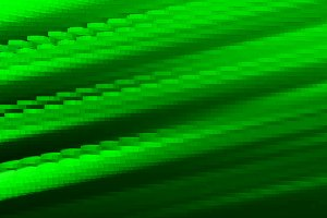 Diagonal green 3d blocks illustration background