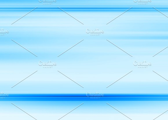 Horizontal Blue Motion Blur Background With Blank Space