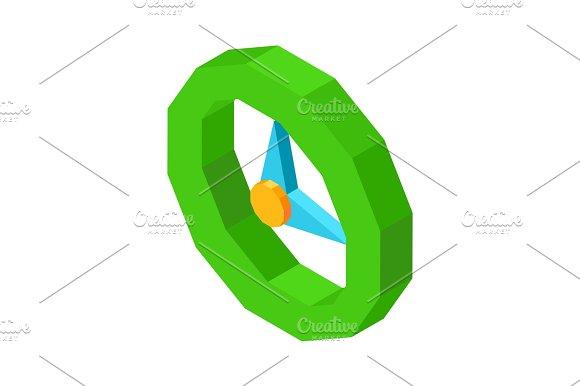 Mechanical Round Clock 3D Icon Isolated Cartoon Illustration