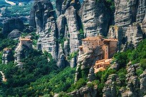 Mountain scenery with Meteora rocks