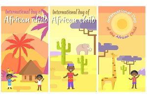 International Day of African Child Placards set