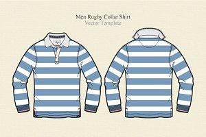 Men Rugby Collar Shirt Vector