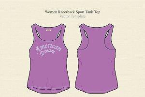 Women Racerback Sport Tank Top