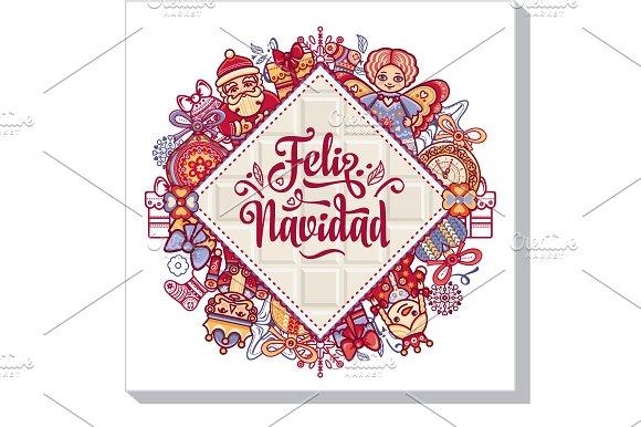 Feliz Navidad Xmas Card On Spanish