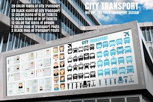 Set of city transport