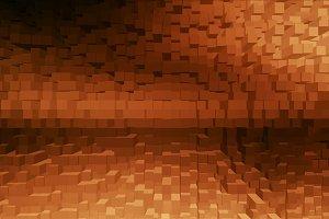 Horizontal orange cubes business presentation abstract backgroun